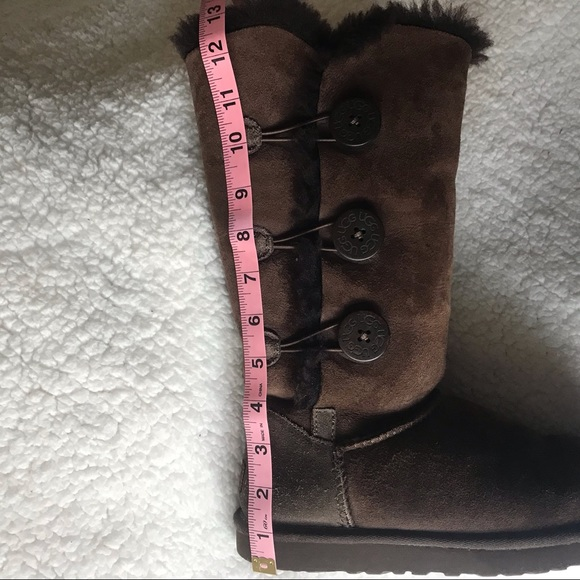 8a3ba5524aa Chocolate Brown Ugg Boots with side buttons